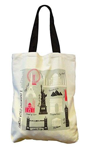 toile Bag sacs coton Yuga de Graffiti Designer Femmes vdIwn6pq0