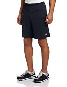 Champion Men's Jersey Short With Pockets, Navy, Small