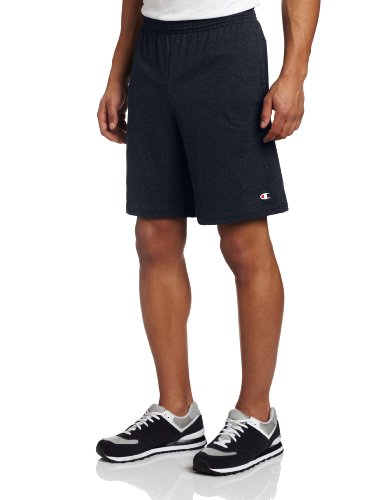 Champion Men's Jersey Short With Pockets, Navy, XX-Large (Jersey Band)