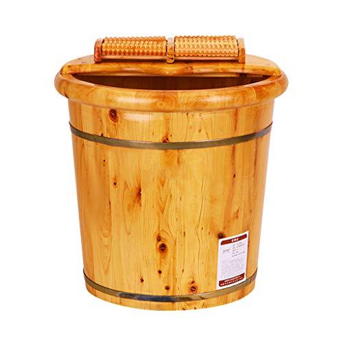 ZUOANCHEN Foot Tub, Cypress Wood Foot Basin Tub Bucket For Foot Bath, Massage, Spa, Sauna, Soak,foot Bath Wooden Bucket Foot Spa Household Wash - Tub Cypress