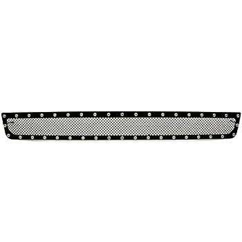 TRex Grilles 6721721 Large Mesh Steel Black Finish XMetal Bumper Grille Insert for GMC Yukon T REX