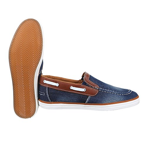 Ital-Design - Zapatillas de casa Hombre Blau Braun