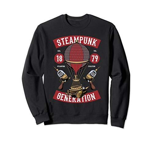 Steampunk Fair Hot Air Balloon Ride Space Fantasy Sweatshirt