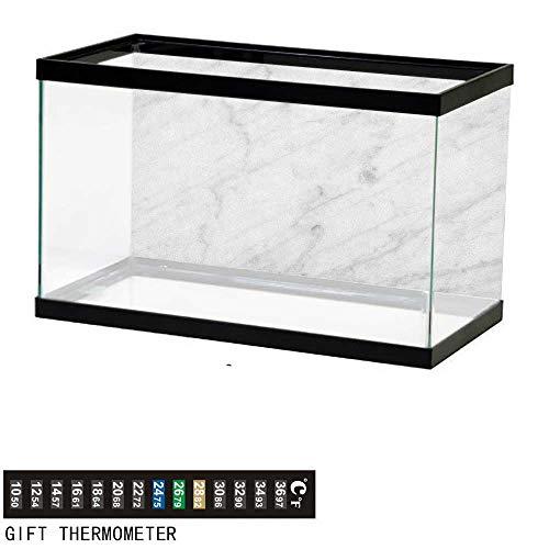 "Jinguizi MarbleAquarium BackgroundCarrara Marble Tile Surface Organic Sculpture Style Granite Model Modern Design48 L X 18"" H Dust Grey Whitefish Tank Backdrop"