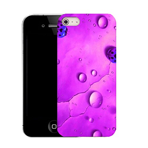 Mobile Case Mate IPhone 4 clip on Silicone Coque couverture case cover Pare-chocs + STYLET - purple rain ladybird pattern (SILICON)