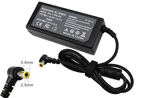 Rockety Pa3714u-1aca Charger Compatible Toshiba PA3715U-1ACA PA3917U-1ACA PA3467U-1ACA PA3822U-1ACA PA5177U-1ACA Statellite P755 P745 C50 C55 L455 L505 L650 L735 L745 L755 Laptop AC Power ()