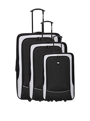 Bag Stone Set de 3 trolleys semirrígidos Girl Negro Negro
