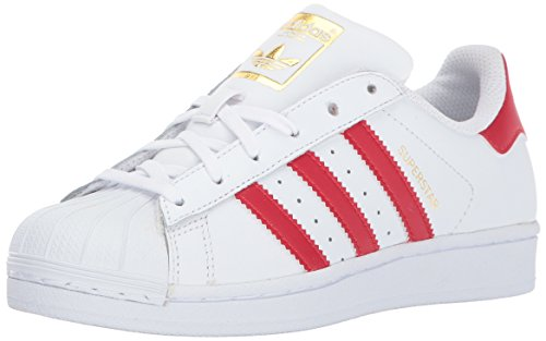 Price comparison product image adidas Originals Superstar J, Ftwwht,Scarle,Ftwwht, 5.5 Medium US