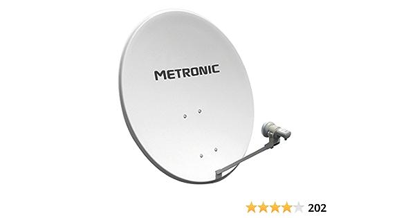 Metronic Universal - Kit de LNB y antena parabólica (digital, inalámbrico), blanco (importado)