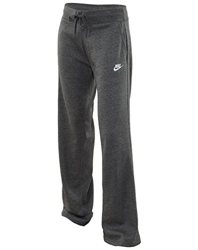 Nike Womens NSW Fleece Open Hem Pants #803652-071 (L, DarkGrey) (Nike Fleece Embroidered Basketball)