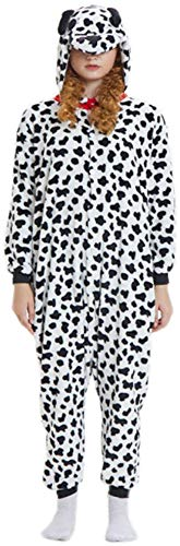 bettyhome Winter Kids Plush One Piece Spotty Dog Home Dress Hoodies (Spotty Dog, 105#(120)(Height:43