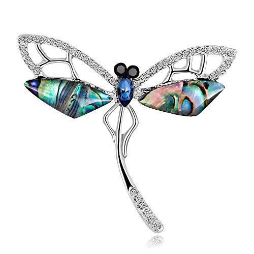 S-WAY Cute Butterfly Alloy Artificial Crystal Enamel Brooch Pin Jewelry for Girls Women Children (S-Butterfly)