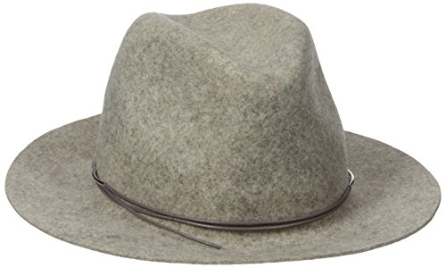 Hat Attack Women's Wool Felt Avery Fedora Hat, Oatmeal Heather/Taupe, One Size ()