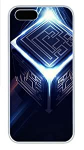 3d cube PC Case Cover for iPhone 5 and iPhone 5s White Halloween gift