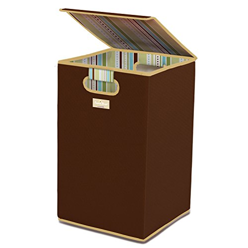 Munchkin Laundry Hamper with Lid, Brown (Baby Boy Hamper Gifts)