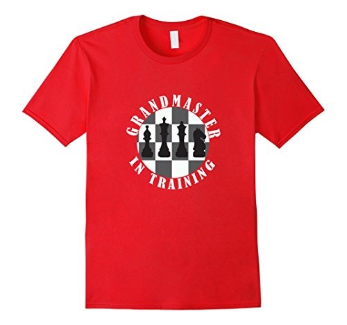 [Men's Funny Grandmaster In Training T-shirt Chess Players Gift Large Red] (Chess Player Costume)
