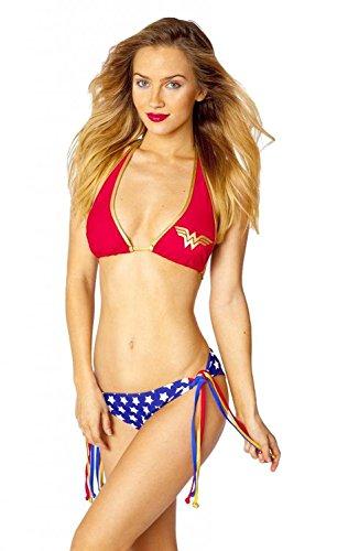 Wonder Woman Halter Top Bikini Set in Australia - 4