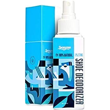 #1 Rated Natural Shoe Deodorizer Spray for Foot Odor & Sport Gear - INSTANT  Shoe Odor Eliminator w