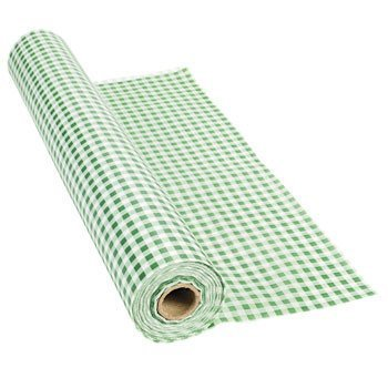 100 Green Gingham Tablecloth Roll
