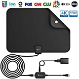 Vansky Indoor Amplified TV Antenna 50-80 Mile 4K/HD/VHF/UHF Freeview TV Local Channels