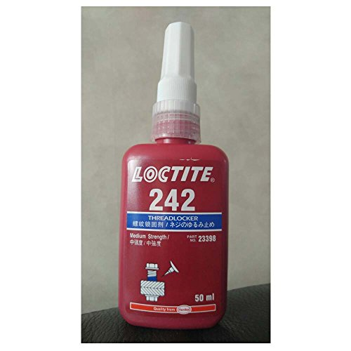 Loctite 242 Medium Strength Threadlocker, 50 mL Bottle, Blue