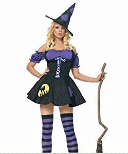 Gorgeous Women cosplay costume Halloween witch dress Devil dress female vampire princess dress nightclub Little Witch