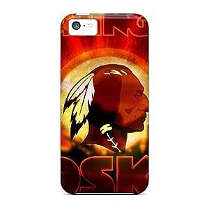 Scratch Protection Hard Phone Case For Iphone 5c (yTF4582nPaB) Customized Lifelike Washington Redskins Image