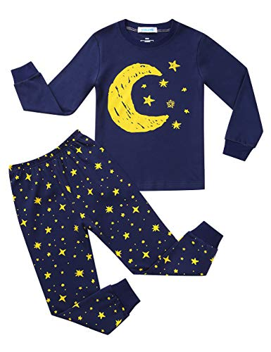 - Kidlove Boys and Girls Casual Pajamas Set Dinosaur Printed Cotton Pjs Sleepwear Set for Kids Navy 2T