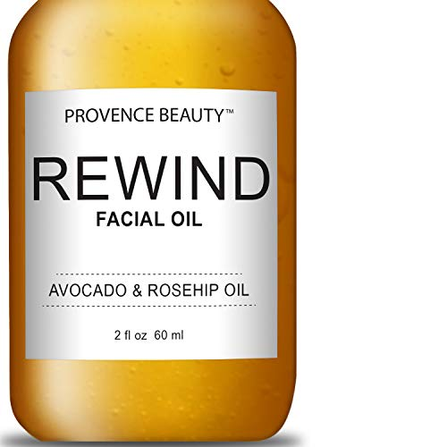 Provence Beauty Active REWIND Facial Oil   Enhanced with Avocado & Rosehip Oil   Soften, Moisturize & Hydrates Skin   Anti-Aging Properties Reduce Wrinkles & Fine Lines   Fixes Damaged Skin - 2 OZ
