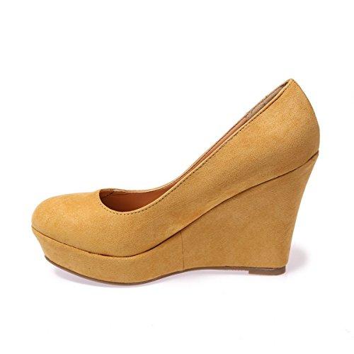 Sintético Modeuse Material Amarillo Vestir De La Mujer Zapatos qHdFwX7c7
