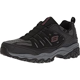 Skechers Men's Afterburn Sport Fit Extra Wonted Wide Loafer Shoes