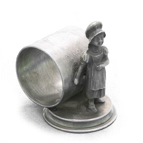 Napkin Ring, Figural, Metal, Prairie Girl