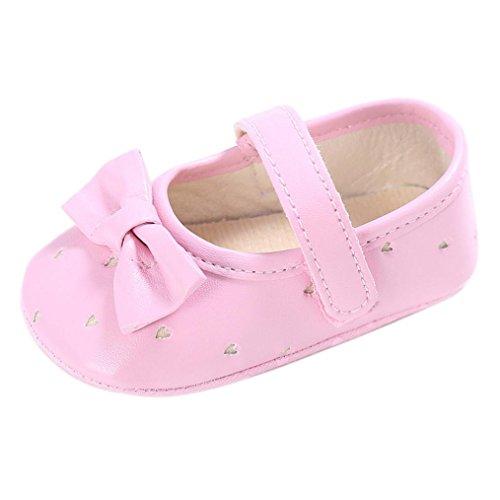 Igemy 1Paar Kleinkind Mädchen Krippe Schuhe Neugeborene Blume Soft Sohle Anti Rutsch Baby Sneakers Pink