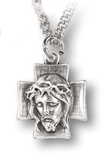WJ Hirten 532 Head of Christ Medal with Chain