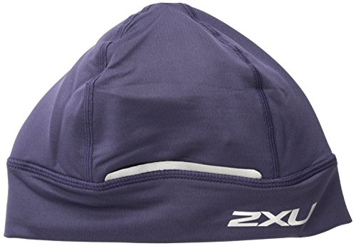 Brooks Running Cap - 2XU Running Beanie, Purple Eclipse, One Size Fits All