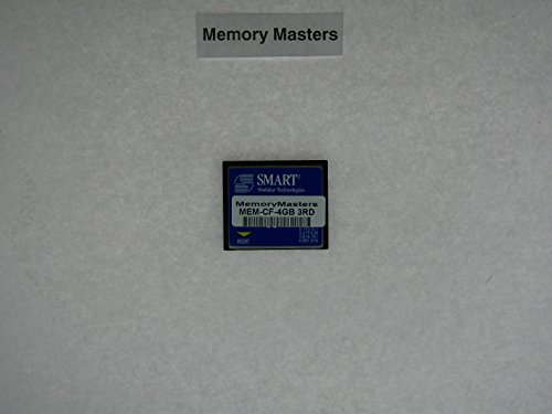 4GB Compact Flash Memory for Cisco 1900 2900 3900 ISR Series Router. Equivalent to Cisco MEM-CF-4GB (MemoryMasters)