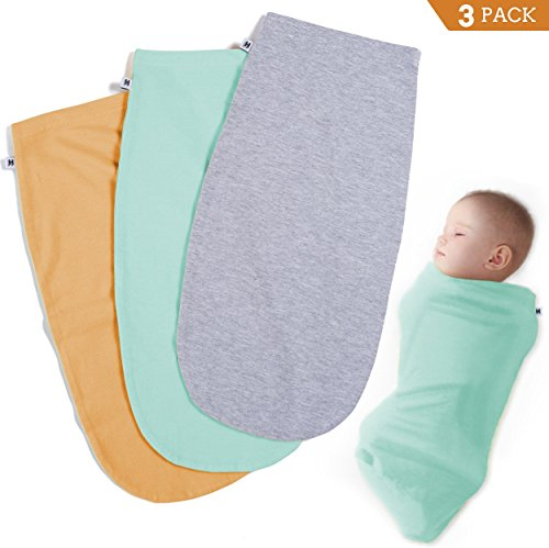 Henry Hunter Baby Swaddle Cocoon Sack | 1, 2, 3 Packs | The Simple Swaddle | Soft Stretchy Comfortable Cotton Blanket for Babies Infants Newborn 0-3 Months (3 Pack - ()