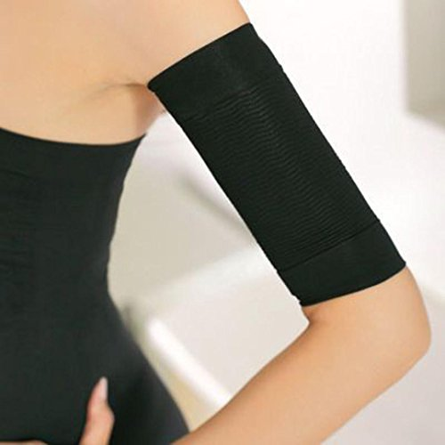 Price comparison product image DZT1968 1pair Beauty Women elastic Shaper Weight Loss Legs Thin Arm With strong adhesion Buster Slimmer Wrap Belt (black)