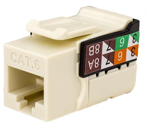 (CAT6 RJ45 Keystone Jack, V-Max Series - Almond Color - (50 pack))