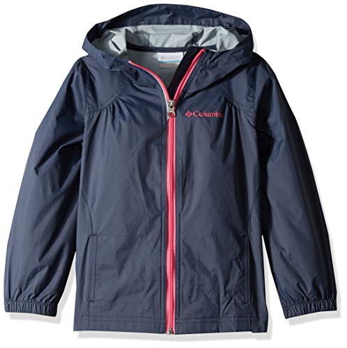Columbia Girls' Big Switchback Rain Jacket, Nocturnal, X-Large