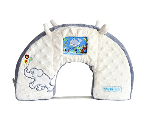 (Snuggwugg Infant Toddler Wiggle Free Diaper Changing Interactive Tummy Time Pillow Great for Travel & Baby Support)