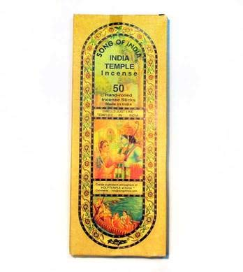 1 X India Temple Incense - Song of India - 50 Stick Medium Box (Indian Incense)
