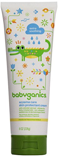 Babyganics Eczema Care Skin Protectant Cream, 8 oz, Packaging May Vary