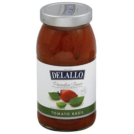 Delallo Pomodoro Fresco Sauce, Tomato Basil, 25.25 Oz (Pack of 2)