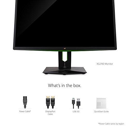 ارخص مكان يبيع ViewSonic XG2760 27 Inch 1440P 165Hz 1ms Gsync Gaming Monitor with Eye Care Advanced Ergonomics HDMI and DP for Esports