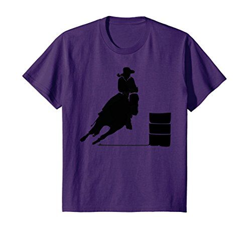 Kids Western Cowgirl Barrel Racing Rider Rodeo Horse Riding Race 10 Purple