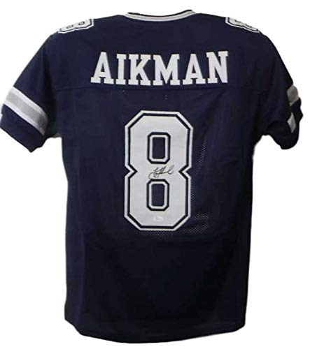 Troy Aikman Autographed/Signed Dallas Cowboys Blue XL Jersey ()