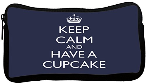 Rikki Knight Keep Calm and Have a Cupcake - Blue Design N...
