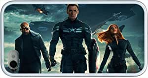 Custom Iphone 4 Case, Favorite Captain America <The Winter Soldier> Members Hard Rubber Shell Back Case For Iphone 4/4S Case