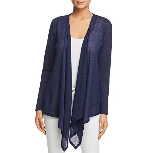 - Michael Michael Kors Womens Asymmetric Sheer Cardigan Sweater Navy XXL